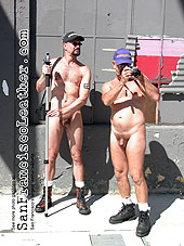 Naked men at Folsom Street Fair 2007 - Click for larger image