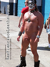Naked man with erection at Folsom Street Fair 2007 - Click for larger image