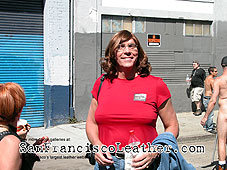 Transsexual at Folsom Street Fair 2007 - Click for larger image