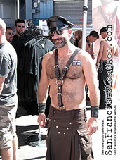 Bare Chested Leatherman at Folsom Street Fair 2007 - Click for larger image