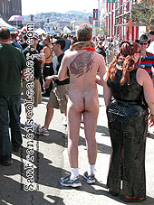 Naked Man with Snake at Folsom Street Fair 2007 - Click for larger image