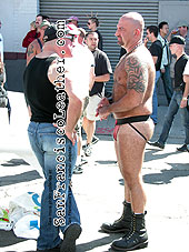 Man in Jockstrap at Folsom Street Fair 2007 - Click for larger image