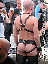Man in Leather Jockstrap at Folsom Street Fair 2007 - Click for larger image