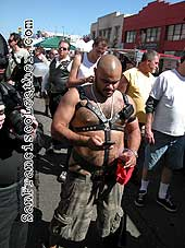 Fat Man in Leather at Folsom Street Fair 2007 - Click for larger image
