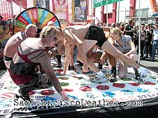 Drag Queen Playing Twister at Folsom Street Fair 2007 - Click for larger image