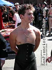 Man in Corsette at Folsom Street Fair 2007 - Click for larger image