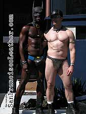 Leather Batman and Robin at Folsom Street Fair 2007 - Click for larger image