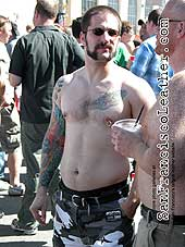 Tattooed Man at Folsom Street Fair 2007 - Click for larger image
