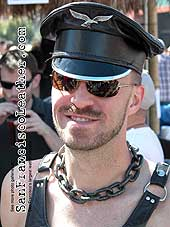 Man in Leather Hat at Folsom Street Fair 2007 - Click for larger image