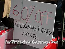 Religious Dildo Sale at Folsom Street Fair 2007 - Click for larger image