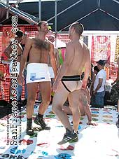 Naked Twister at Folsom Street Fair 2007 - Click for larger image
